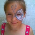 arcfestés fél arcos pillangó